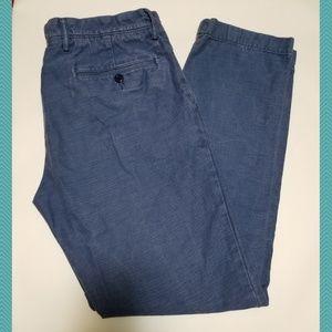 J. Crew Blue Chambray Urban Slim Pants